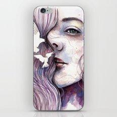 Dreams of freedom, watercolor artwork iPhone & iPod Skin