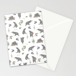 Mole on the way Stationery Cards