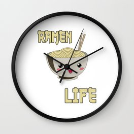 Ramen Life Japanese Noodles Bowl Vintage Retro Style Wall Clock
