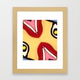 Right Red Framed Art Print