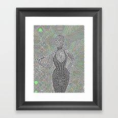 Noisy Dom Framed Art Print