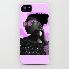 Rock Star Glitter Collage iPhone Case