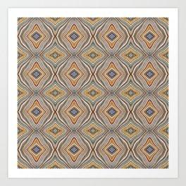 Wild Wavy Patchwork 10 Art Print