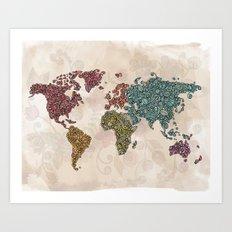 Paisley World Art Print