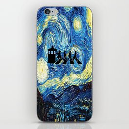 The Doctors Walking Of Starry Night iPhone Skin