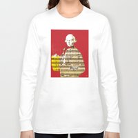 mozart Long Sleeve T-shirts featuring Wolfgang Amadeus Mozart by Marko Köppe