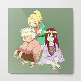 Young Jiraiya Orochimaru and Tsunade Metal Print