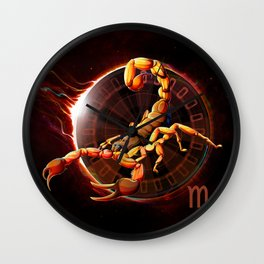 Horoscope Signs-Scorpio Wall Clock