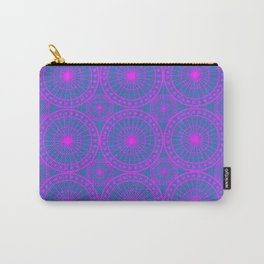 Fuchsia & Blue Spoked Wheel Pattern Carry-All Pouch