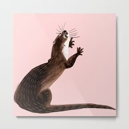 Asian small-clawed otter Metal Print