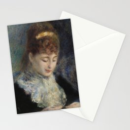 Woman Crocheting Stationery Cards