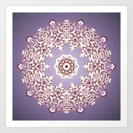 Flower Bud Mandala Art Print