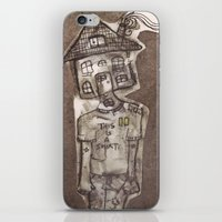 cartoons iPhone & iPod Skins featuring Saturday Morning Cartoons 1: Homebody by Kayleigh Morin