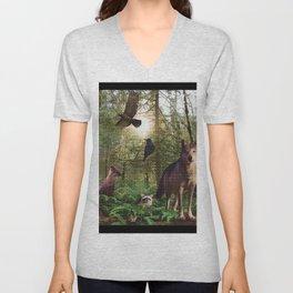 Forest Animals Unisex V-Neck