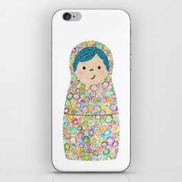 Rainbow Matryoshka Nesting Dolls iPhone Skin