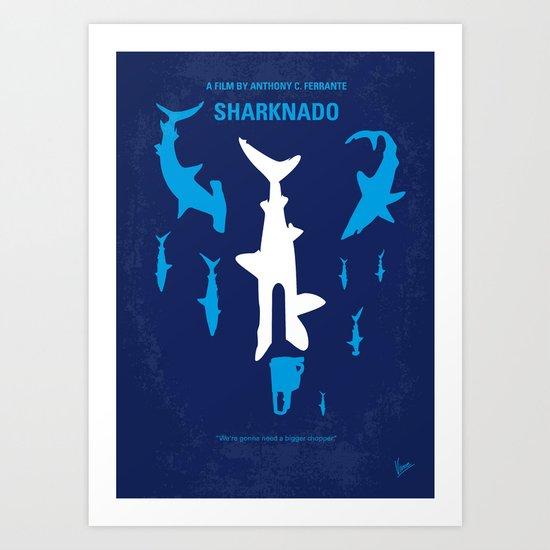 No216 My Sharknado minimal movie poster Art Print