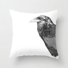 Corvus Corax Throw Pillow