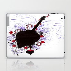 Bleeding Black Heart Guitar Laptop & iPad Skin