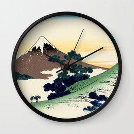 "Hokusai (1760-1849)  ""Inume Pass"" Wall Clock"