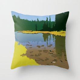 Junction Lake Throw Pillow
