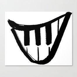 Forte piano smile Canvas Print