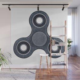 Fidget spinner denim photocollage Wall Mural