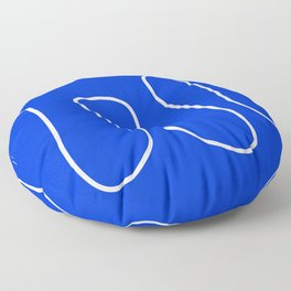 Blue Abstract Wave Floor Pillow
