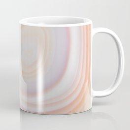 Cream & Pale Yellow Striped Agate Slice Coffee Mug