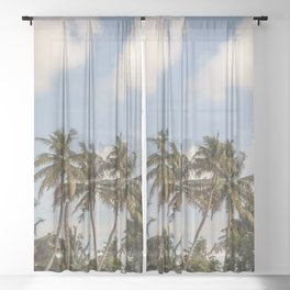 Tropical Island Sheer Curtain