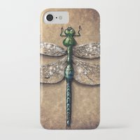 dragonfly iPhone & iPod Cases featuring Dragonfly  by Werk of Art
