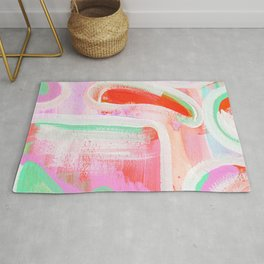 Abstract Light Pink Study Rug