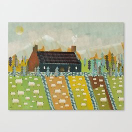 wooly fields Canvas Print