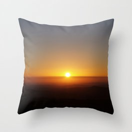 Sunset over moorland hills Throw Pillow