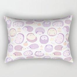 Happy Hedgies - Kawaii Hedgehog Doodle Rectangular Pillow
