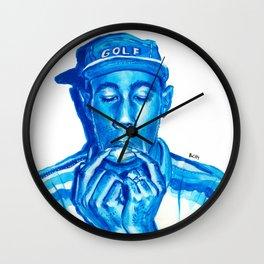 Tyler blue Wall Clock