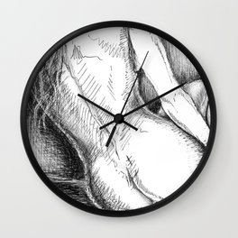 Woman Reclining in Morning Sunlight Wall Clock