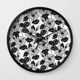 Hibiscus garden Wall Clock