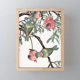 Pomegranate and Lovebirds Framed Mini Art Print