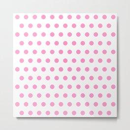 new polka dot 44 - pink Metal Print