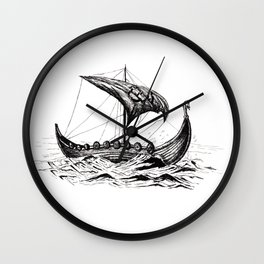 Sail away, Vikings! Wall Clock
