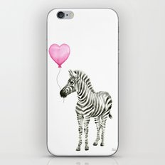 Zebra with Balloon Animal Watercolor Whimsical Animals iPhone & iPod Skin