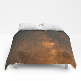 The Milky Way (Forest Landscape Photography, Starry Night Sky Photo) Comforters