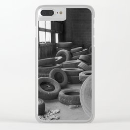 Tire Graveyard Clear iPhone Case