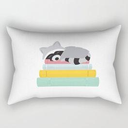 Sleepy Raccoon Rectangular Pillow