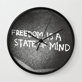 Freedom is a State of Mind Wall Clock