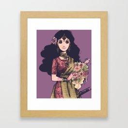 Henna and flowers  Framed Art Print