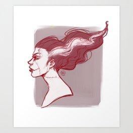 White streak Art Print