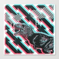 trex Canvas Prints featuring trex by Mark Valkwitch