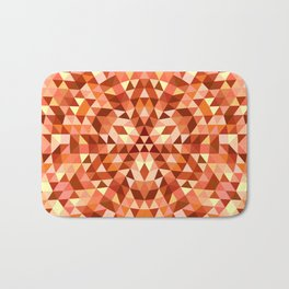 Hot triangle mandala Bath Mat