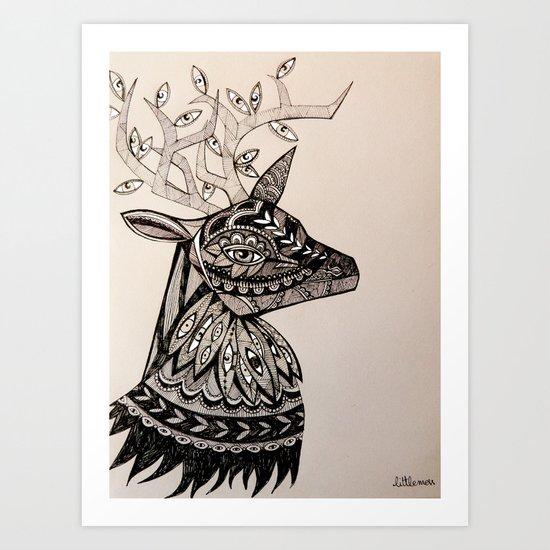A Deer Art Print